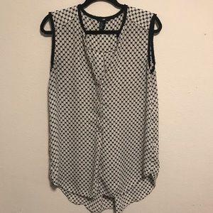 H&M Sleeveless patterned Chiffon Tank Blouse